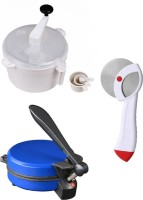 ECO SHOPEE COMBO OF DETACHABLE BLUE ROTI MAKER, DOUGH MAKER AND PIZZA CUTTER Roti/Khakhra Maker (Blue)