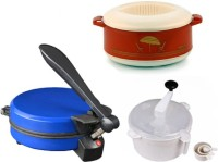 ECO SHOPEE COMBO OF NATIONAL BLUE DETACHABLE ROTI MAKER, CASSEROLE AND DOUGH MAKER Roti/Khakhra Maker (Blue)