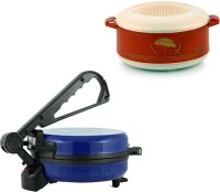 ECO SHOPEE COMBO OF NATIONAL BLUE Roti- MAKER WITH CASSEROLE Roti/Khakhra Maker (Blue)