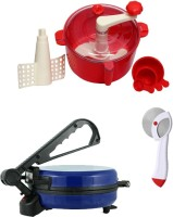 ECO SHOPEE COMBO OF BLUE ROTI MAKER, RED DOUGH MAKER AND PIZZA CUTTER Roti/Khakhra Maker (Blue)