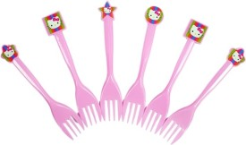 Funcart Hello Kitty Disposable Plastic Dessert Fork Set