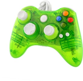 New World Led Light Gaming Controller For Microsoft Xbox 360 And Pc  Gamepad (Green, For Xbox 360, PC)