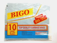 Bigo Black Bin Liner L Size 24 X 30 Inches (2x10 = 20 Bags In 2 Packets) Large 11 L Garbage Bag (Pack Of 10)