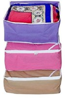 Kuber Industries Designer Non Woven Saree Cover Set Of 3 Pcs /Wardrobe Organiser/Regular Clothes Bag Sc065 Multicolor