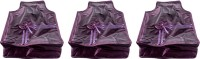Annapurna Sales Designer 4 Inch Height Front Transparent Large Blouse Cover - Set Of 3 Pcs. Purple00369 Purple