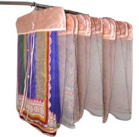 Addyz Plain 12 Net Saree Cover For Heavy Sarees Peach Wardrobe Organize Peach