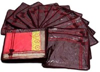 Kuber Industries Designer Saree Cover Non Wooven Material 12 Pcs Set (Maroon) Sc041 Maroon