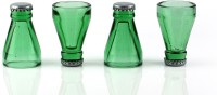 Mog Top Shots (Set Of 4 Beer Bottle Top Shot Glass) 6014 (40 Ml, Green, Pack Of 4)
