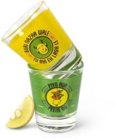Happily Unmarried Buri Nazar Shot Glass (60 Ml, White, Pack Of 2)