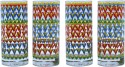 The Elephant Company Tumblers Zig-Zag Chakra S/4 858-0 - 380 Ml, Multicolor, Pack Of 4