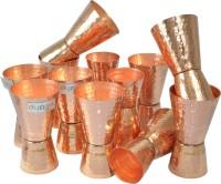 Dungri India Craft MJigger002-12 (600 Ml, Gold, Pack Of 12)