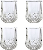 CreativesKart Crystal Cut Shot Glass (Set Of 4) (30 Ml, Clear, Pack Of 4)
