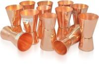 Dungri India Craft MJigger001-12 (600 Ml, Gold, Pack Of 12)