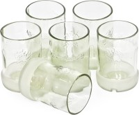 BOTL Drinking Glasses Recycled From Vodka Bottles (300 Ml, Clear, Pack Of 6)