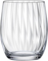 Bohemia Crystal Club Waterfall Whiskey Glass SS33010 (300 Ml, Clear, Pack Of 6)