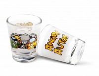 Happily Unmarried Angry Autos Kitchen Shot Glass (30 Ml, White, Pack Of 2)