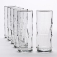 Its Our Studio Bamboo Bash Cool Coaktail Glass (450 Ml, Clear, Pack Of 6)