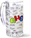 Roti Kapda Makaan Beer Glass Cheers Mug - 300 Ml, Multicolor, Pack Of 1