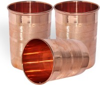 Prisha India Craft Tumbler Handmade Glass, Set Of 3 Tumbler019-3 (240 Ml, Gold, Pack Of 3)