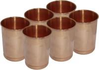 Lakshmi Copper Glass Set 6 Piece (350 Ml, Brown, Pack Of 6)