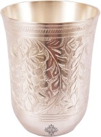 Indian Art Villa Handmade Silver Plated Glass Cup Tumbler Home Decore Gift Item (250 Ml, Silver, Pack Of 1)