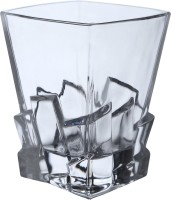 KITTENS Bottom Bricks Square Shaped Bar Glasses (300 Ml, Clear, Pack Of 6)
