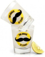 Happily Unmarried Mooch Shot Glass (60 Ml, White, Pack Of 2)