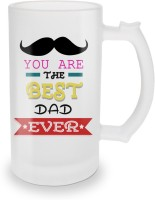 SKY TRENDS You Are The Best Dad Ever With Black Mustaches And Special Gifts For Happy Father's Day Glass Beer Mug (500 Ml, Multicolor, Pack Of 1)