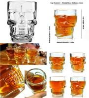 Packnbuy Skull Shot Glass Set Of 4 (40 Ml, Clear, Pack Of 4)