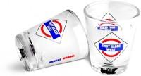 Happily Unmarried Mumbai Kitchen Shot Glass (30 Ml, White, Pack Of 2)
