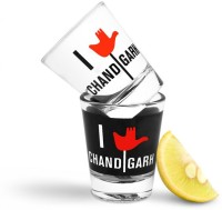 Happily Unmarried Chandigarh Shot Glass (30 Ml, White, Pack Of 2)