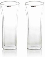 Metier Double Wall Glass - Curve - 600ml (2pcs) (600 Ml, Clear, Pack Of 2)