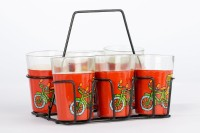 Its Our Studio Cycle Rickshaw Tapri Glass (50 Ml, Multicolor, Pack Of 6)