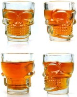 Excitinglives Skull Shot Glass 1628 (30 Ml, Clear, Pack Of 4)