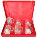 Dekor World Beer Glass DWDT-320 - 100 Ml, Silver, Pack Of 6