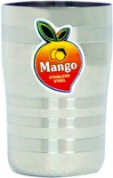 Mango Steel Glass Freshka10 (100 Ml, Silver, Pack Of 6)