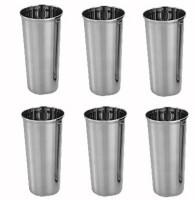King International Steel Plain Gless V Shape Glass KI-V-SHP-GLS (250 Ml, Steel, Pack Of 6)