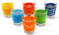 Happily Unmarried High On Mumbai Kitchen Shot Glass (30 Ml, Multicolor, Pack Of 6)
