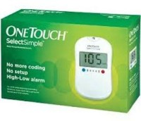Johnson & Johnson One Touch SelectSimple Glucometer (White)