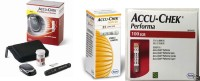 Accu-Chek Performa Nano 100 STRIPS + 25 Softclik Lancet Super Combo!! With Glucometer (Red)