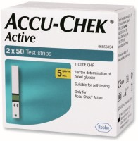 Accu-Chek Active Test Strips - 100 Glucometer (Green)