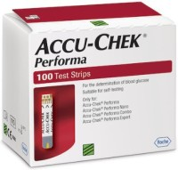 Accuchek 100 Strips For Performa & Nano Glucometer (Red)