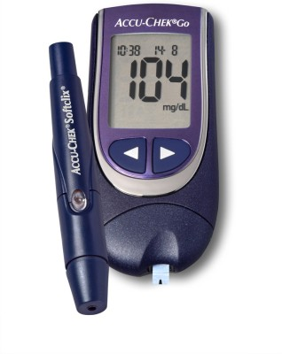 Accu Chek Go Glucose Monitor Only With 25 Strips Glucometer Price In India Buy Accu Chek Go