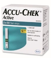 Accu-Chek 100 (50X2) Test Strips For Active Glucometer (Blue)