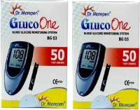 Dr. Morepen Gluco One Monitoring System 50 Test Strips (Pack Of 2) Glucometer (Blue)