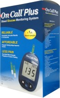 On Call Plus Plus Glucometer With 10 Strips Glucometer (Blue)