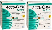 Accu-Chek Active Test Strip 100(Pack Of 2) Glucometer (White)