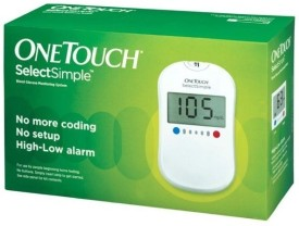 Johnson & Johnson One Touch Select Glucose Monitor With 60 Strips Glucometer - White