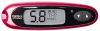 Johnson And Johnson Onetouch Ultra Easy Meter With 25 Strips Glucometer (Red)