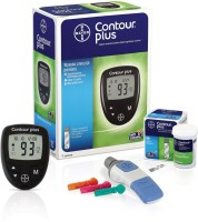 Bayer Contour Plus With 10 Strips Glucometer (Black)